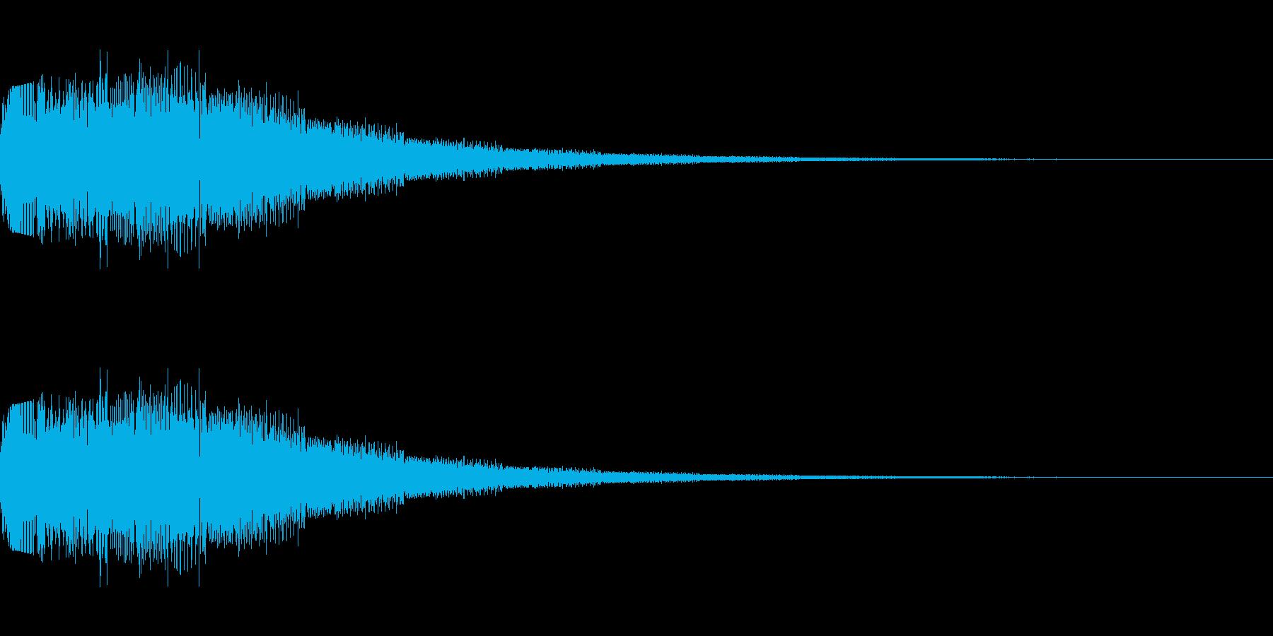 シンセサイザー 決定・選択・UI 4の再生済みの波形