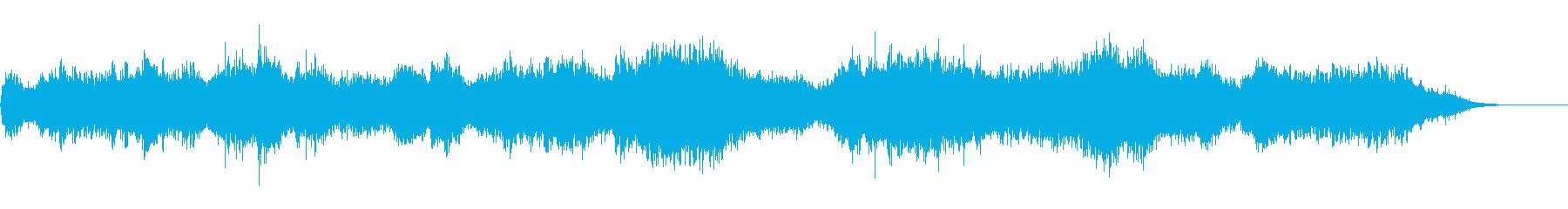 幽鬼や悪魔の潜む混沌とした恐怖の音風景の再生済みの波形
