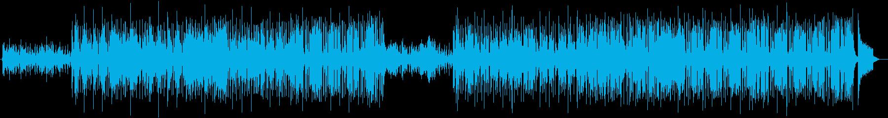 軽やかな疾走感のあるポップミュージックの再生済みの波形
