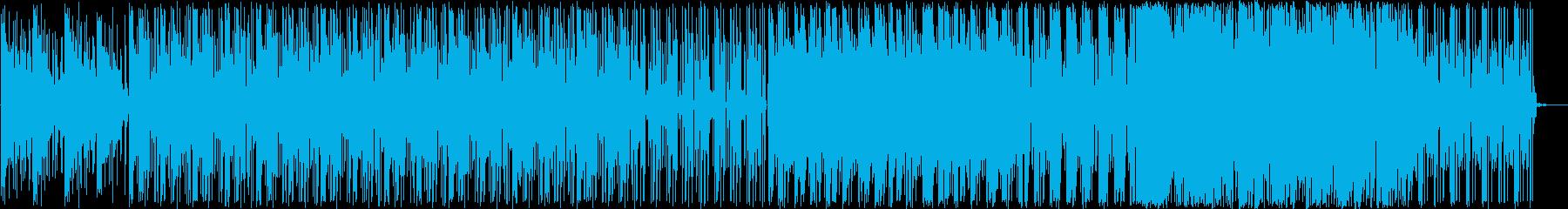 クラブジャズ 都会的 映像 夕暮れ 夜景の再生済みの波形