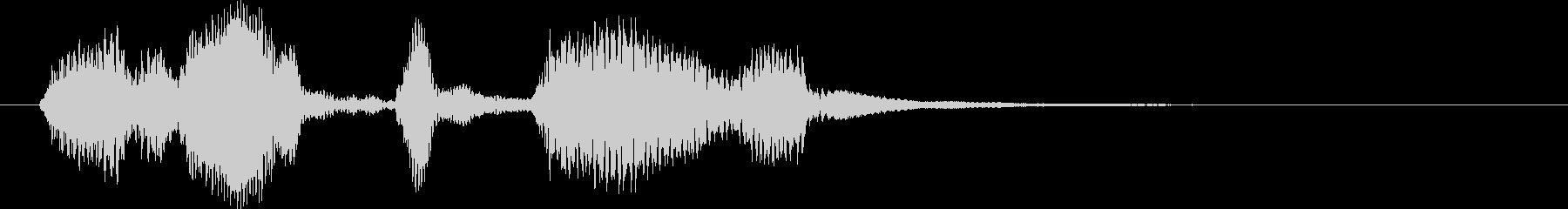 ドゥビドゥバ~陽気なスキャット風ジングルの未再生の波形