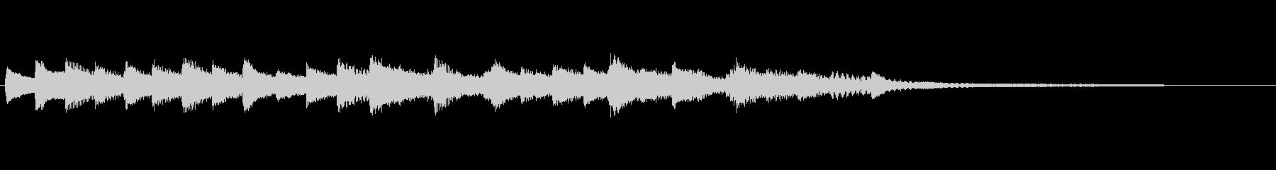 悲しいピアノジングル/アルペジオの未再生の波形