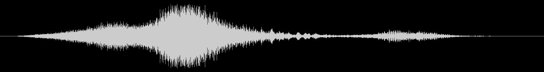 ロートレイル付きフェイズドアイスウーシュの未再生の波形