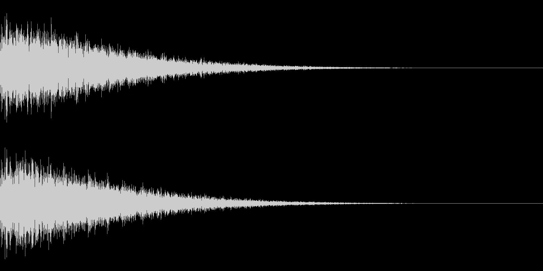 カーン、キーンの未再生の波形