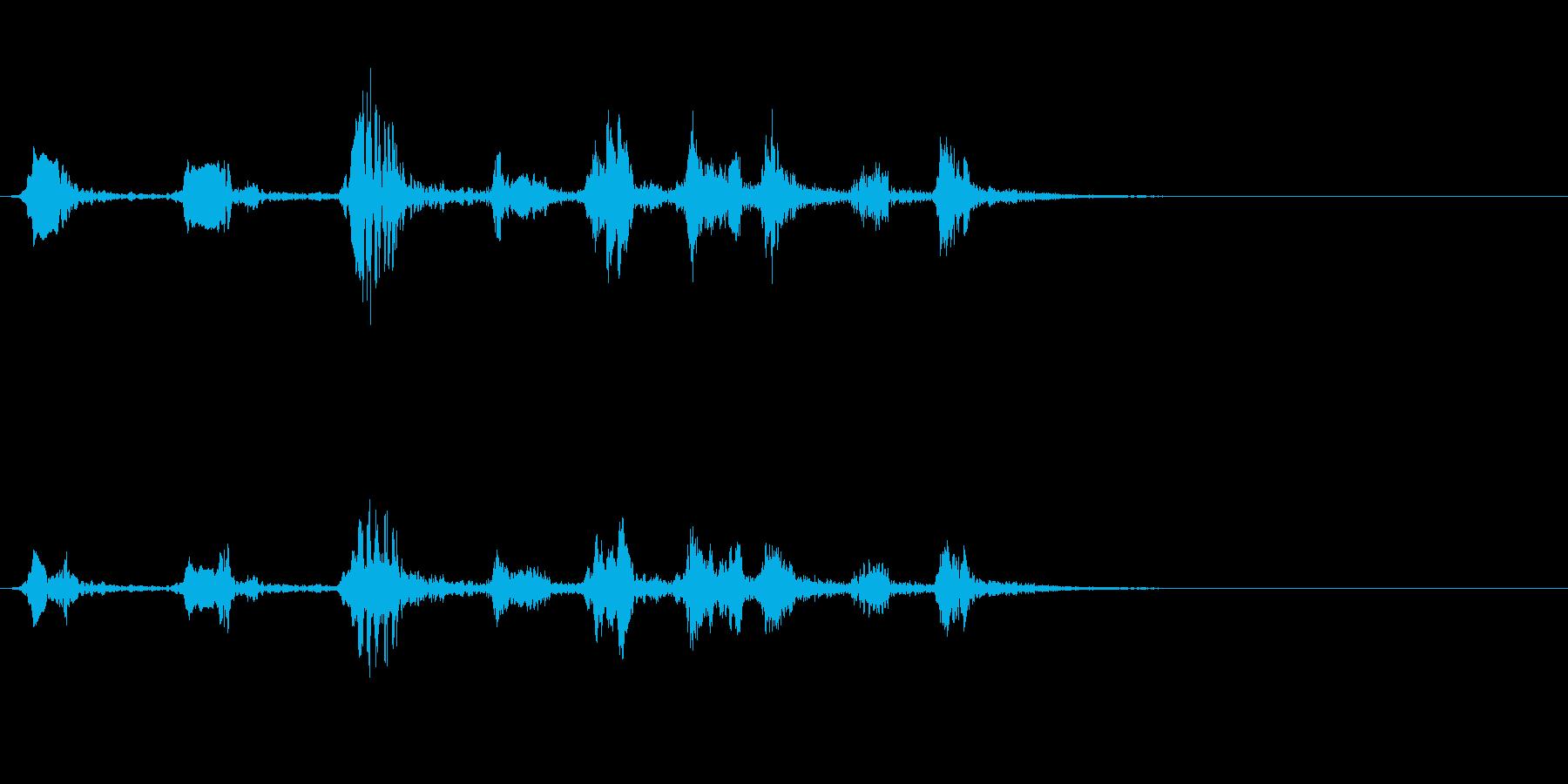 アカハラの鳴き声の再生済みの波形