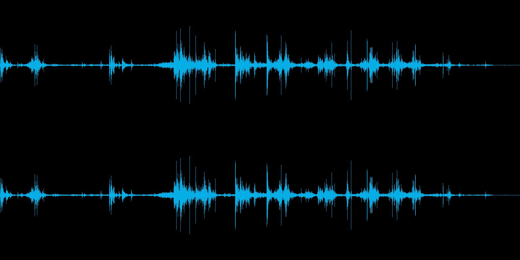 【カシャカシャ】ベアリングの音 の再生済みの波形