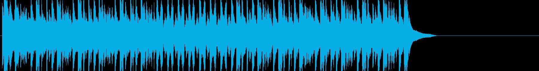 陽気で淡々としたジングル用ドリルンベースの再生済みの波形