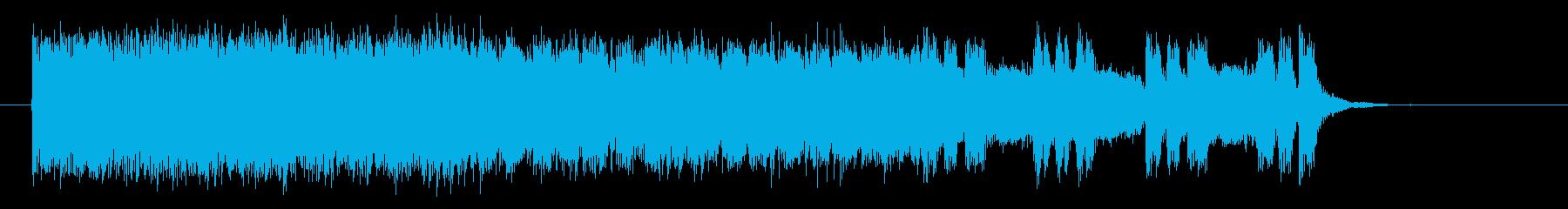テクノ調で爽快なロックの再生済みの波形