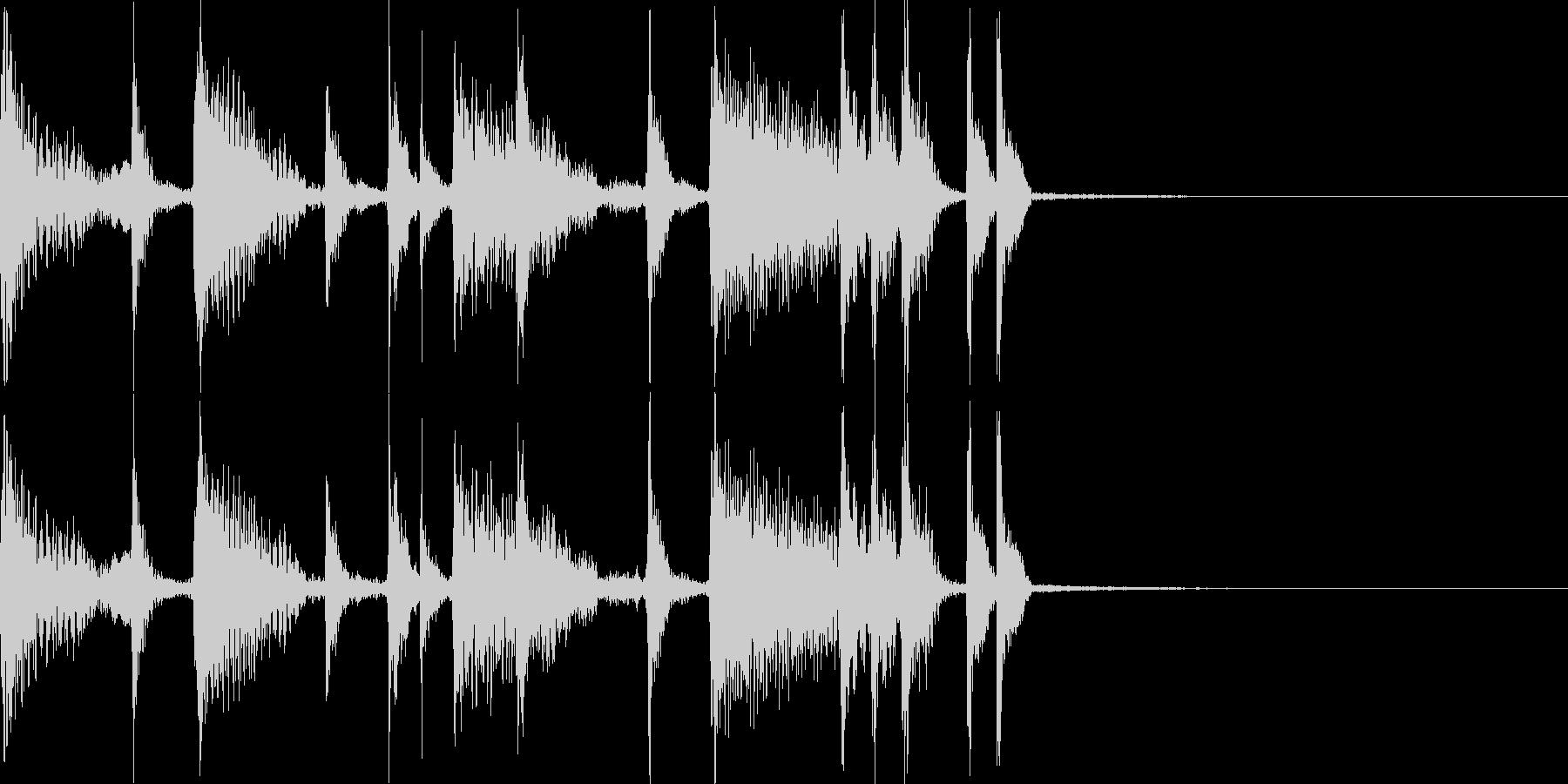 アコースティックなジングルの未再生の波形