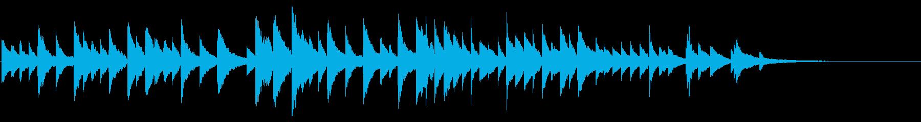 静かな時をイメージしたピアノソロ曲。の再生済みの波形