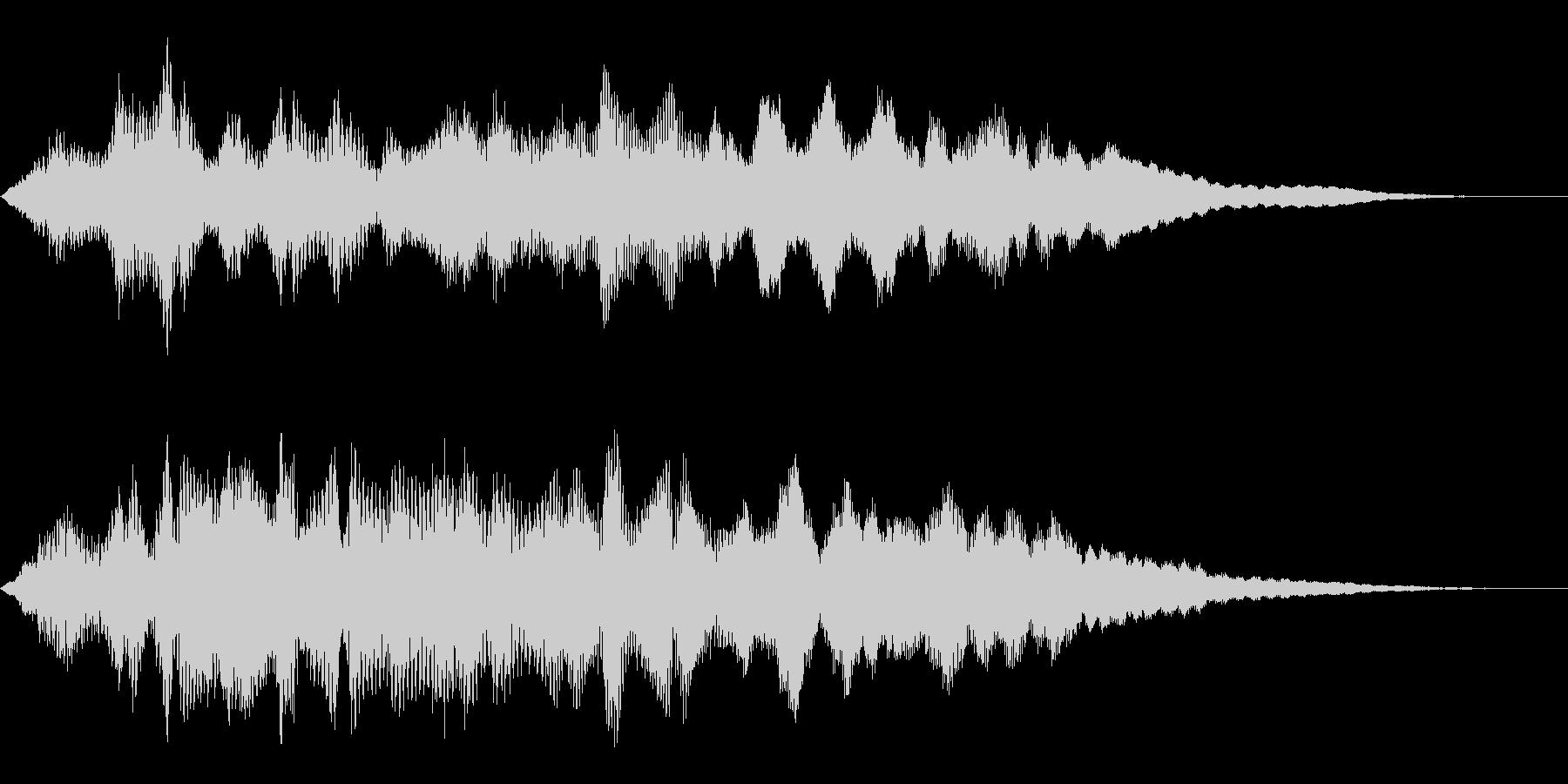 タイトルバック ホラー8の未再生の波形
