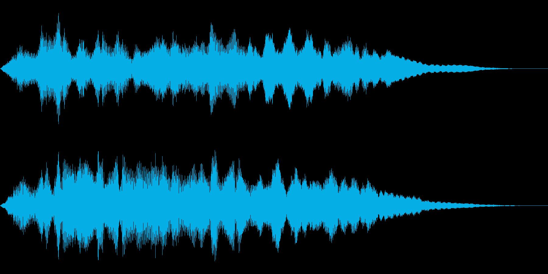 タイトルバック ホラー8の再生済みの波形