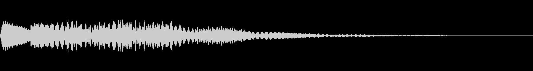 テロップ出し等用、キラキラ系効果音11の未再生の波形