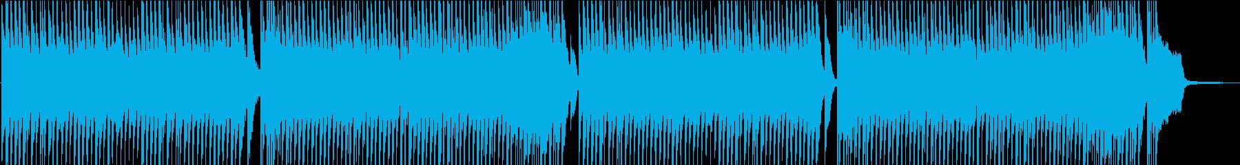 ユーモアとコミカルなドタバタBGMの再生済みの波形