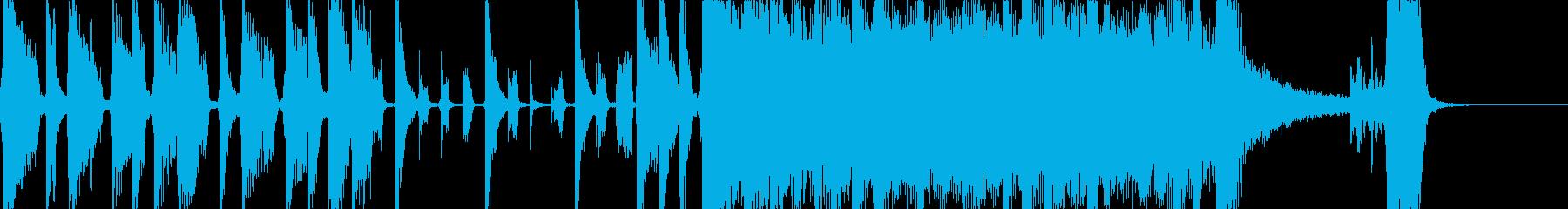 シンセがおしゃれなバンドサウンド曲の再生済みの波形