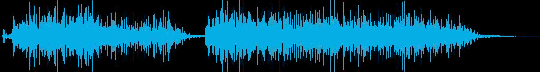 モンスターのいびきの再生済みの波形