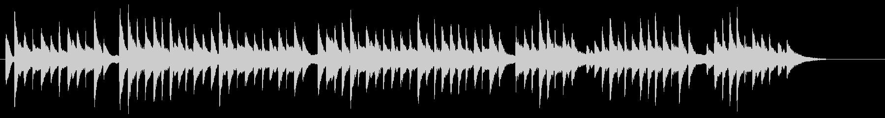 サティっぽいシンプルなBGMソロピアノの未再生の波形