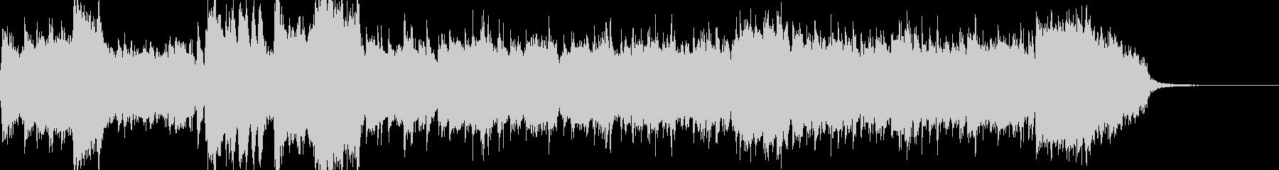 オーケストラによる和風オープニングの未再生の波形