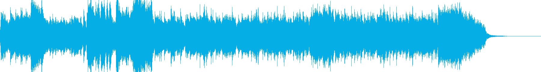 オーケストラによる和風オープニングの再生済みの波形