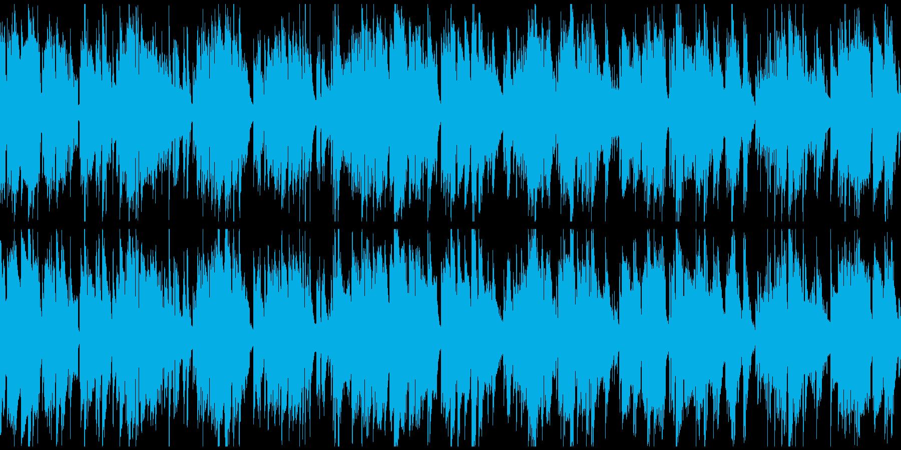 柔らかい幸せなジャズバラード ※ループ版の再生済みの波形