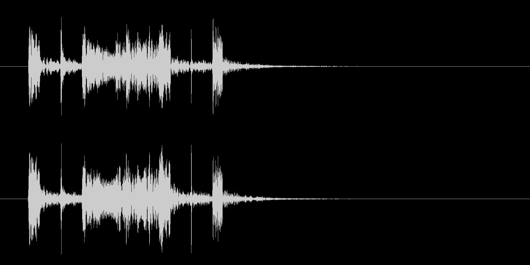 コミカルなジャズのジングル、サウンドロゴの未再生の波形