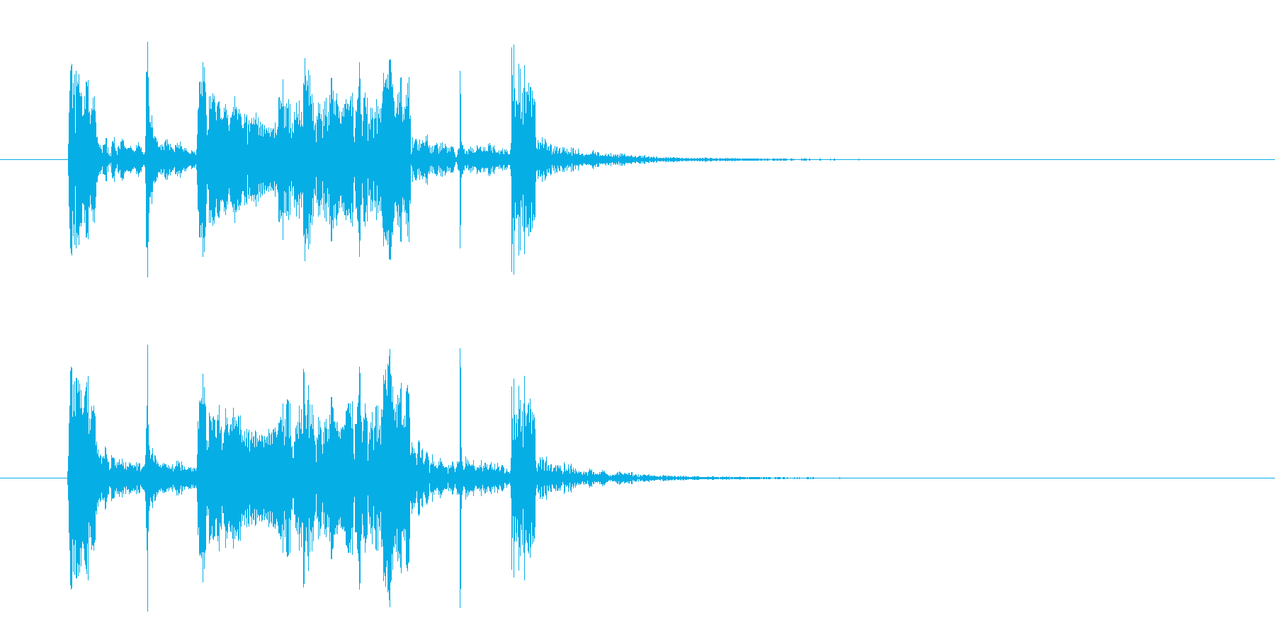 コミカルなジャズのジングル、サウンドロゴの再生済みの波形