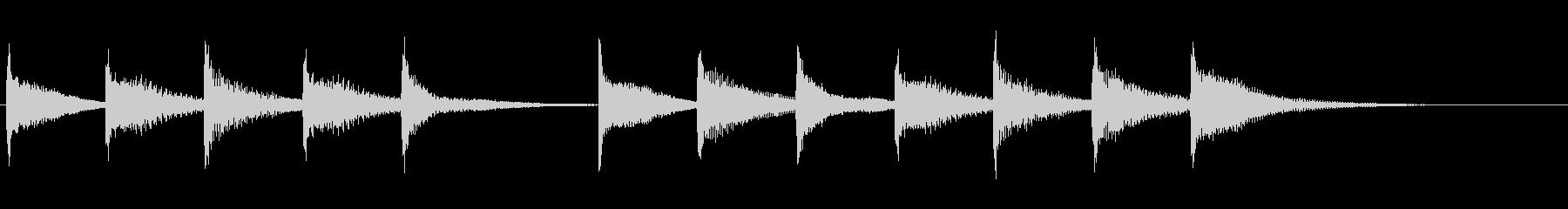 スマホのアラームの未再生の波形