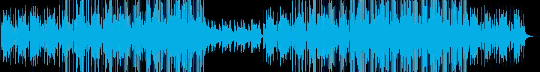 アコースティックな洋楽系ポップスの再生済みの波形