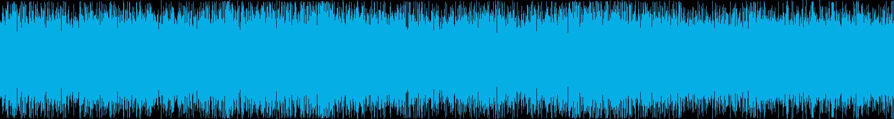 ザァー(FMラジオのノイズG)ループ処理の再生済みの波形