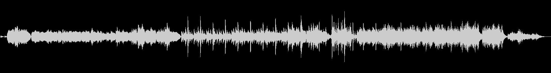 オルガン・ピアノ・ベルの優しいキャロルの未再生の波形