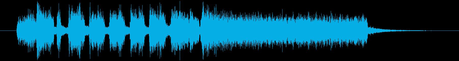オルガンのシンプルでポップなジングルの再生済みの波形