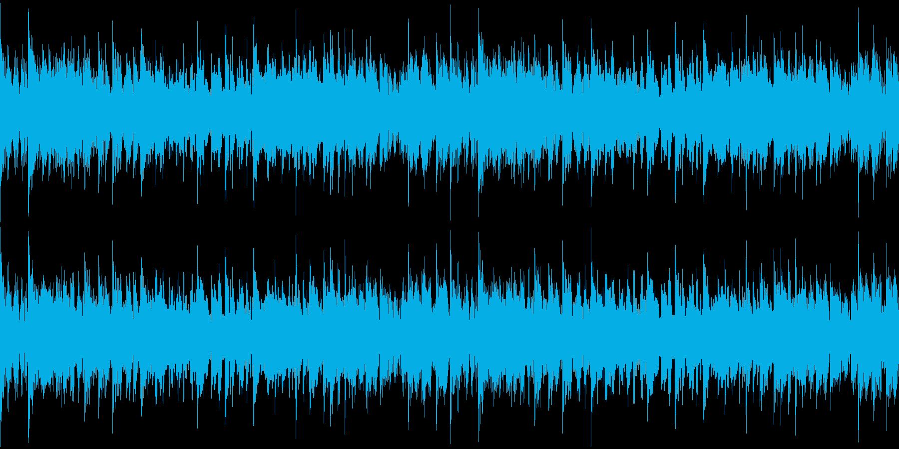 重厚打楽器のホラー系Loop BGMの再生済みの波形
