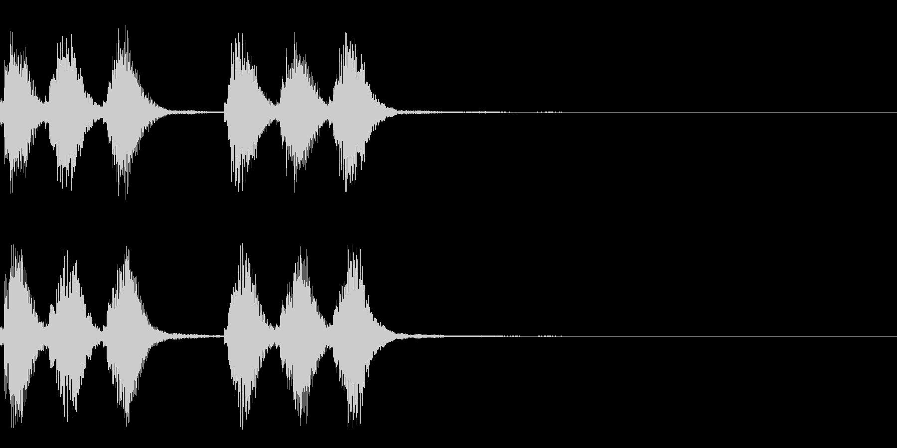 爽やかで歯切れの良いアラーム・着信音の未再生の波形