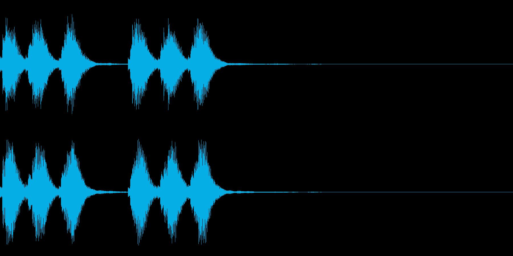 爽やかで歯切れの良いアラーム・着信音の再生済みの波形