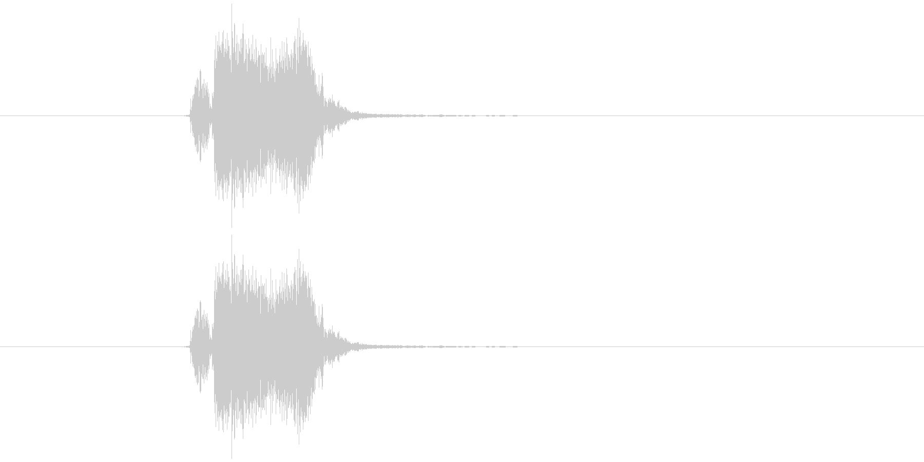 ブッシュッの未再生の波形