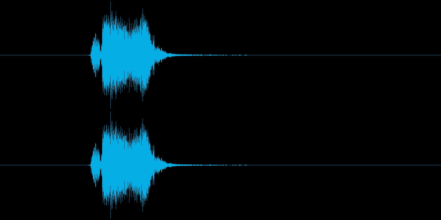 ブッシュッの再生済みの波形
