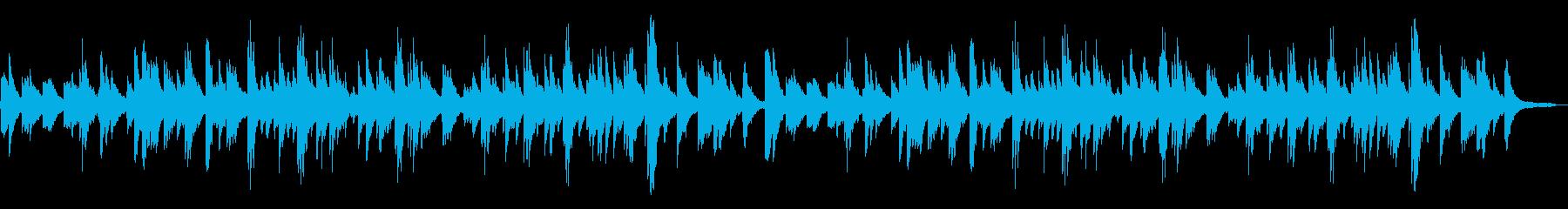 ゆったりとしたピアノ オルゴール入りの再生済みの波形