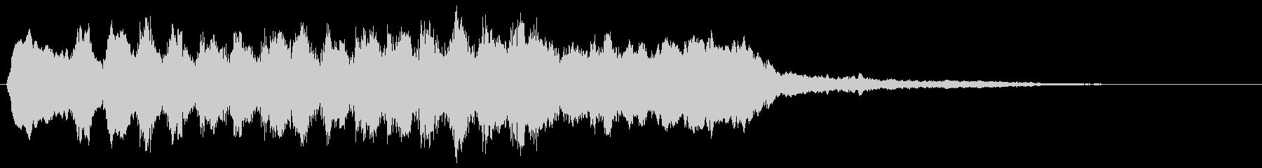 バイオリンの転回音 場面転換 シーン切替の未再生の波形