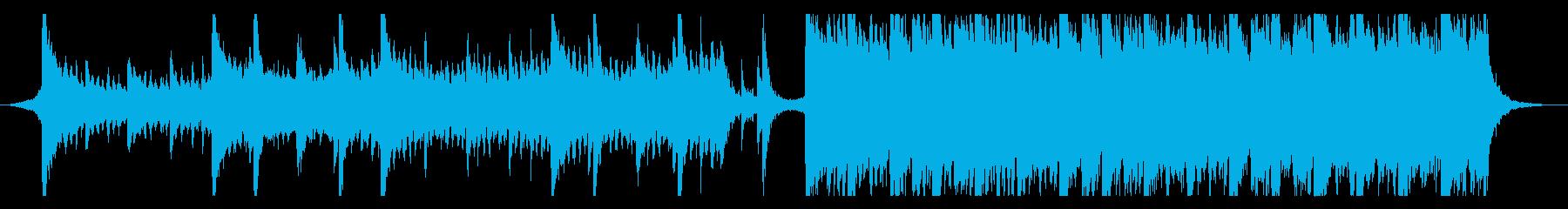 ハリウッド映画風の壮大オーケストラ14bの再生済みの波形