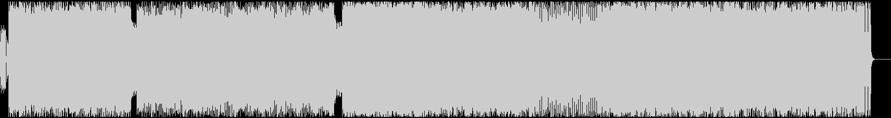 激しいデスメタルの未再生の波形
