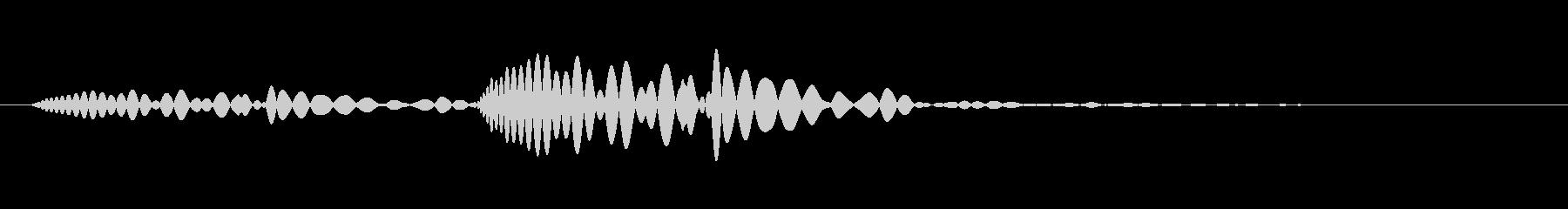 心臓が鳴り響くどっくん・ドックン音の未再生の波形