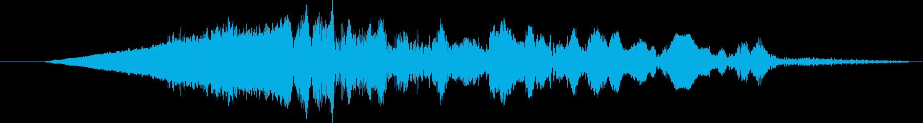 ローエリーランブルスローフェードインの再生済みの波形