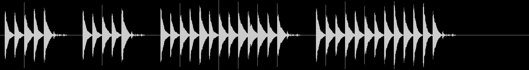 ほのぼのとした雰囲気の短いジングルの未再生の波形