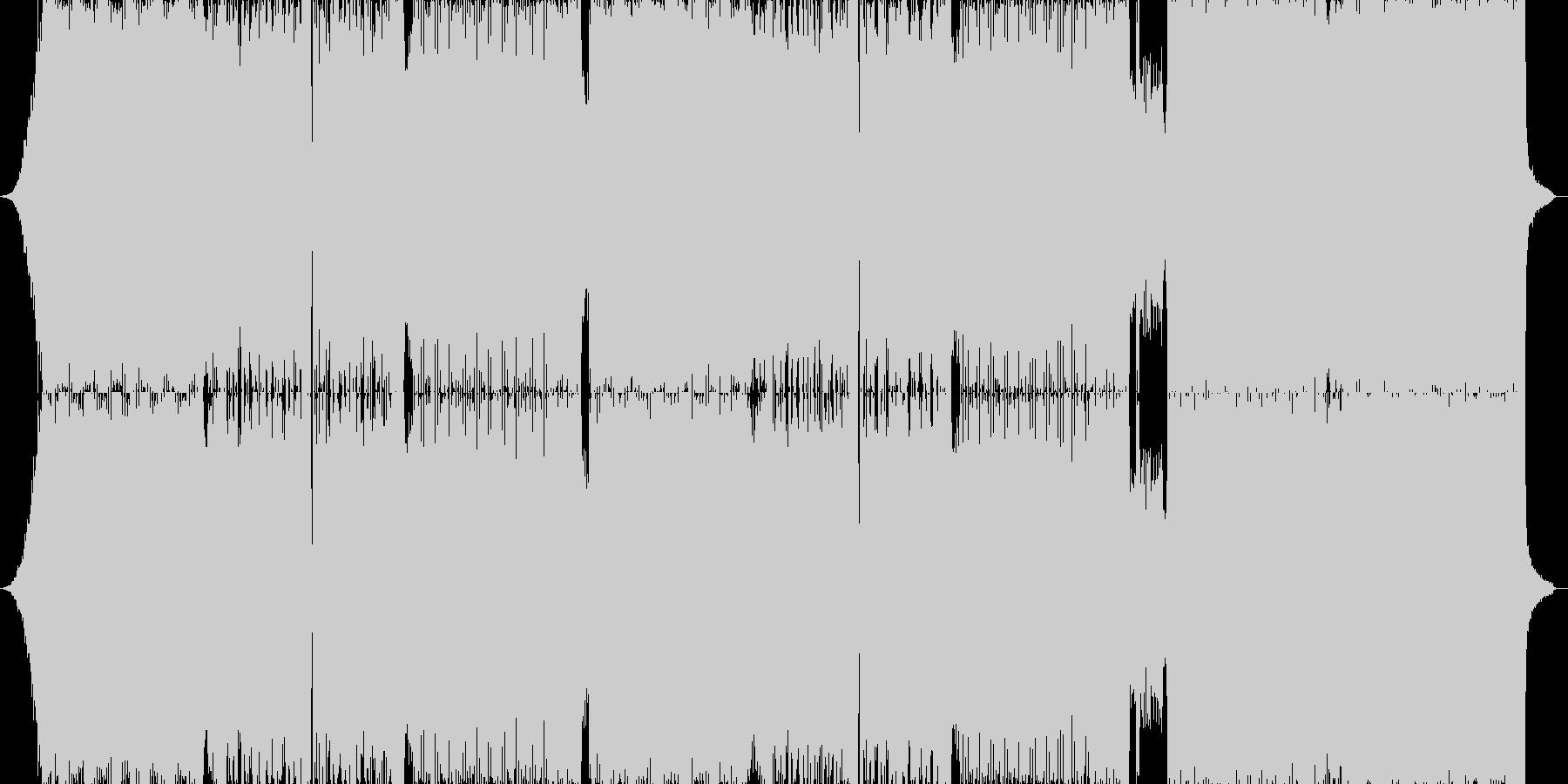 ハードロックとダンスミュージックの融合の未再生の波形
