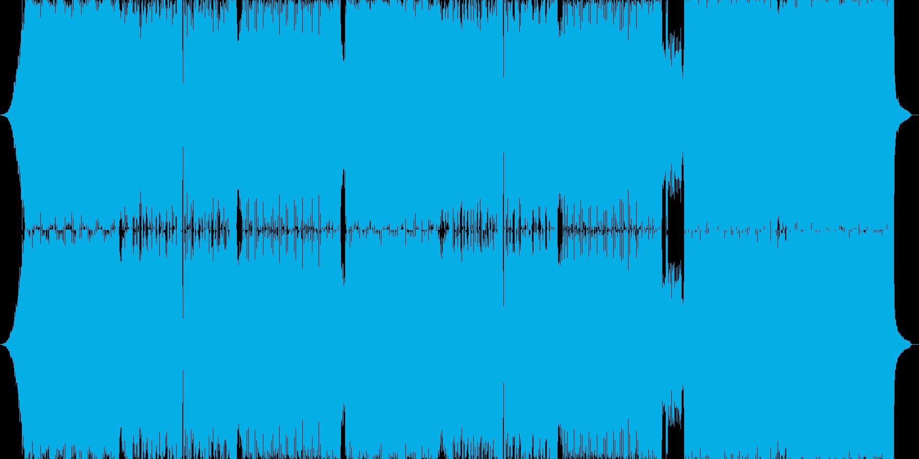 ハードロックとダンスミュージックの融合の再生済みの波形