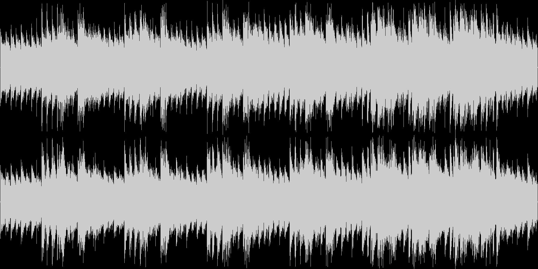 レトロな感じのシューティング用BGMの未再生の波形