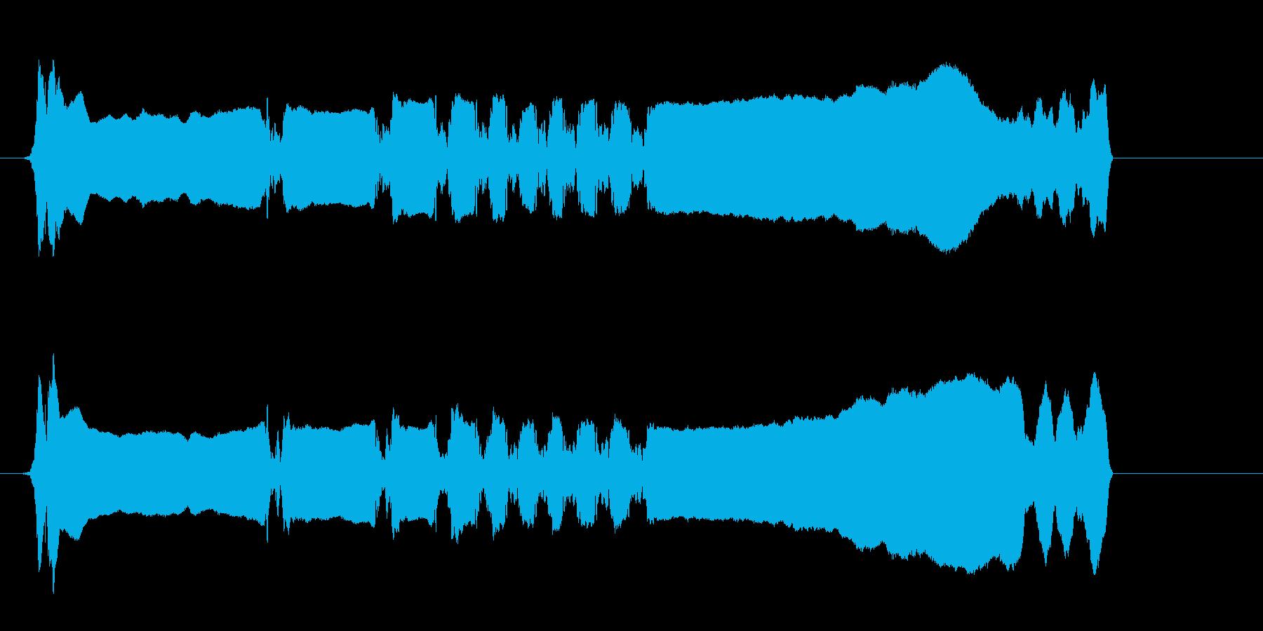サムライ参上!尺八のフレーズ音の再生済みの波形
