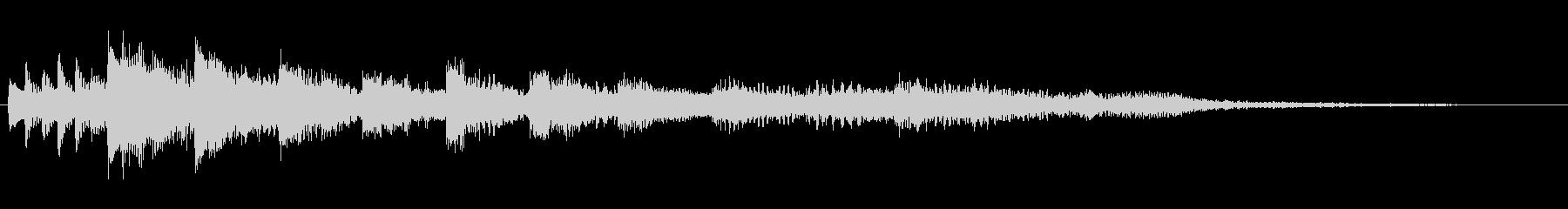 衝動的で悲痛なピアノジングルの未再生の波形