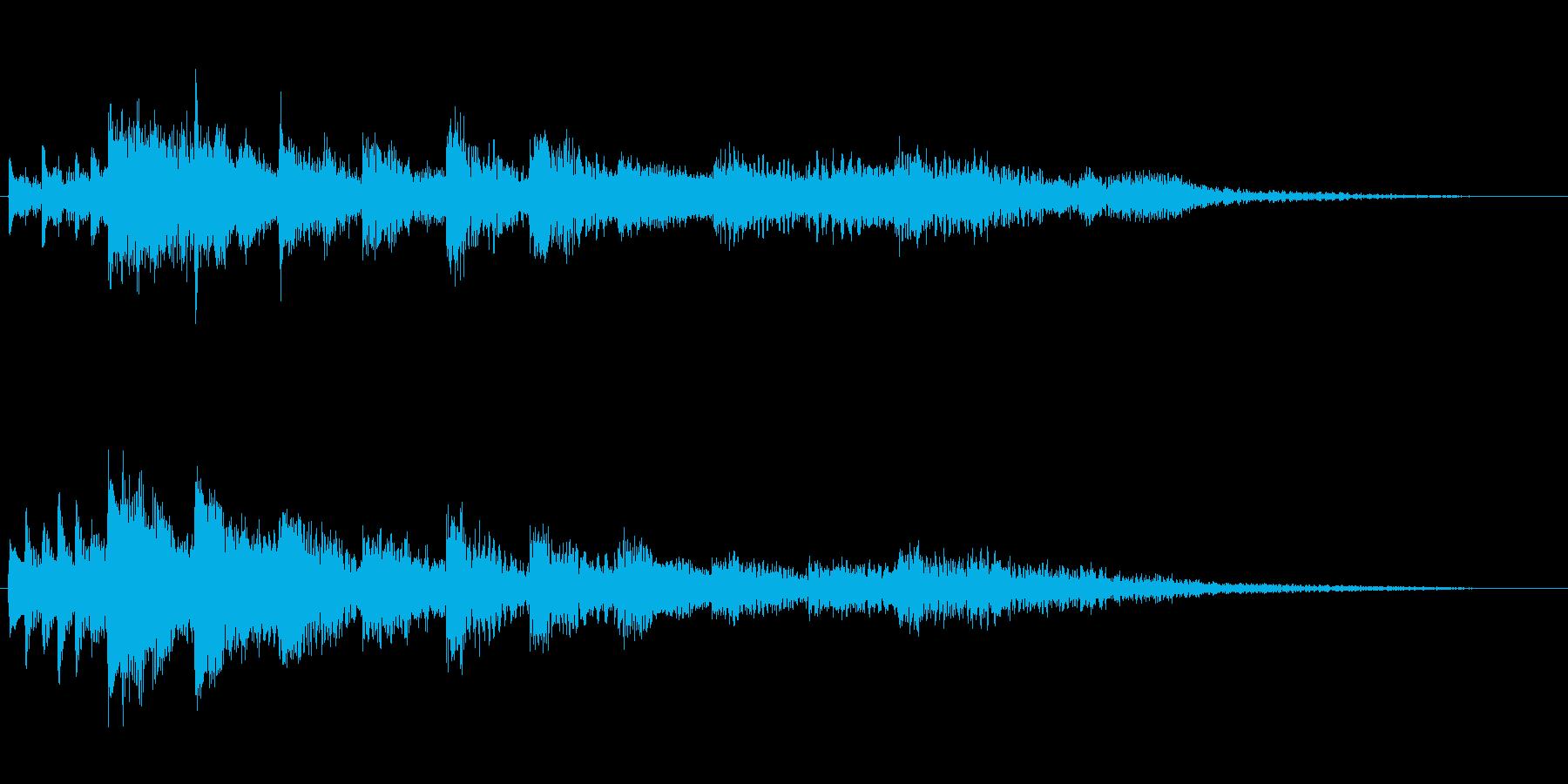 衝動的で悲痛なピアノジングルの再生済みの波形