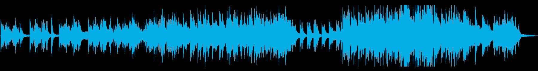 スタイリッシュなピアノ&フルート♪の再生済みの波形